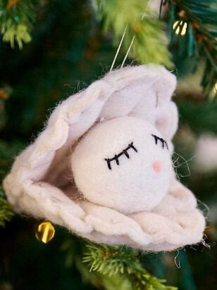 Felt Oyster Pearl Ornament - A'Beautiful Soul