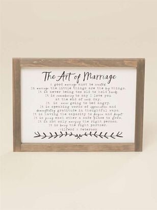 The Art Of Marriage Mini Wall Art - A'Beautiful Soul