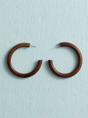 Wooden Hoop Earrings - A'Beautiful Soul