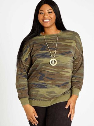 Camo Weekender Top - A'Beautiful Soul