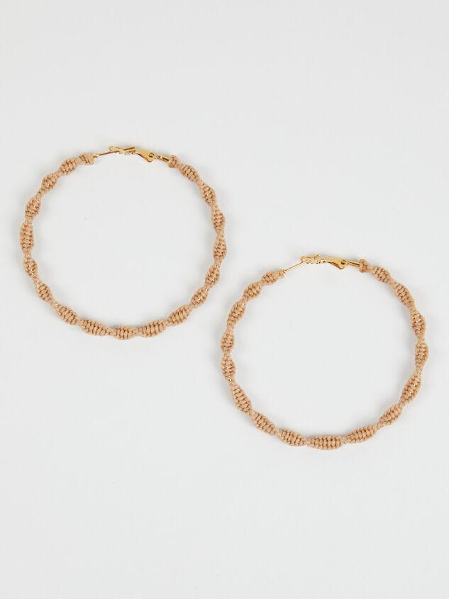 Macramé Hoop Earrings - A'Beautiful Soul