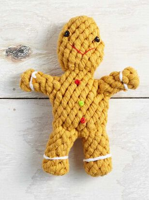 Holiday Gingerbread Dog Toy - A'Beautiful Soul