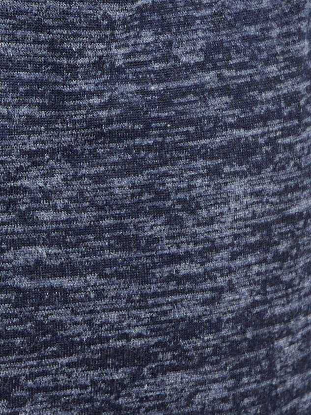 Barlow Top - Heather Navy Detail 4 - A'Beautiful Soul