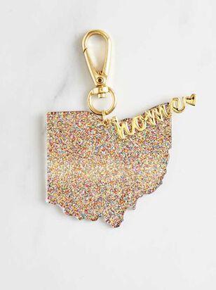 Home Glitter Keychain - Ohio - A'Beautiful Soul