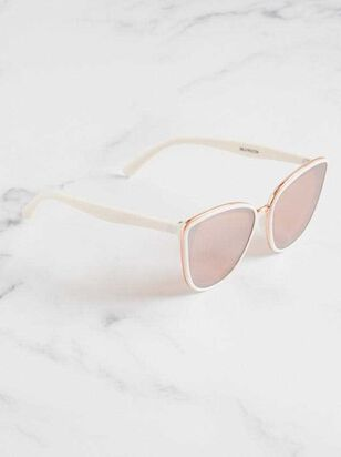 Layla Sunglasses - White - A'Beautiful Soul