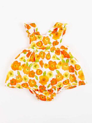 Tullabee Orange Florals Sunsuit Set - A'Beautiful Soul