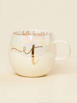 Hello Beautiful Iridescent Monogram Mug - T - A'Beautiful Soul