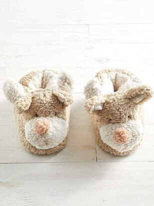 Plush Reindeer Slippers - A'Beautiful Soul