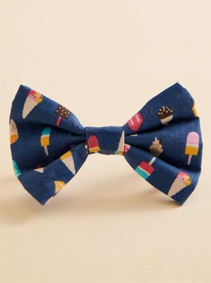 Bear & Ollie's Ice Cream Dog Collar Bow Tie - A'Beautiful Soul