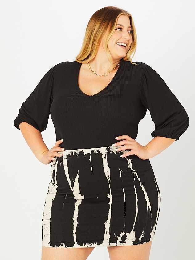 Black Tie Dye Skirt - A'Beautiful Soul