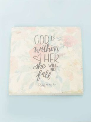 God is Within Her Floral Coaster - A'Beautiful Soul