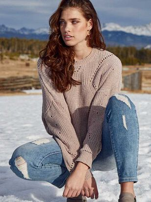 Eversoft Chenille Pointelle Sweater - A'Beautiful Soul