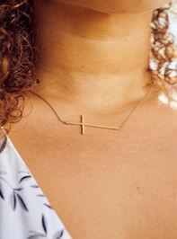 Dainty Cross Necklace Detail 3 - A'Beautiful Soul