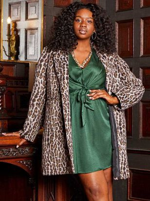 Leopard Pea Coat - A'Beautiful Soul