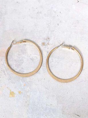 Hammered Hoop Earrings - A'Beautiful Soul