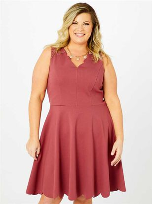 Selah Scallop Dress - A'Beautiful Soul