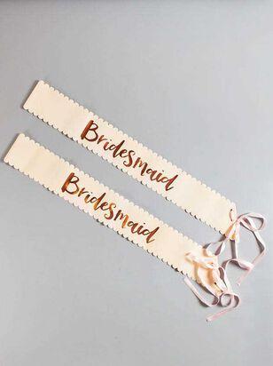 Vow'd Bridesmaid Sashes Set - A'Beautiful Soul