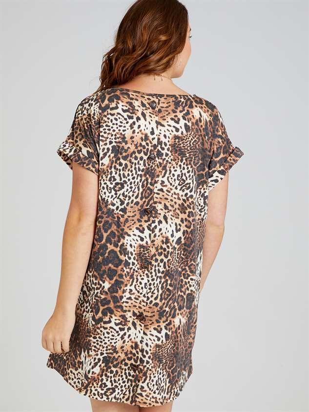 Lux Leopard Dress Detail 3 - A'Beautiful Soul