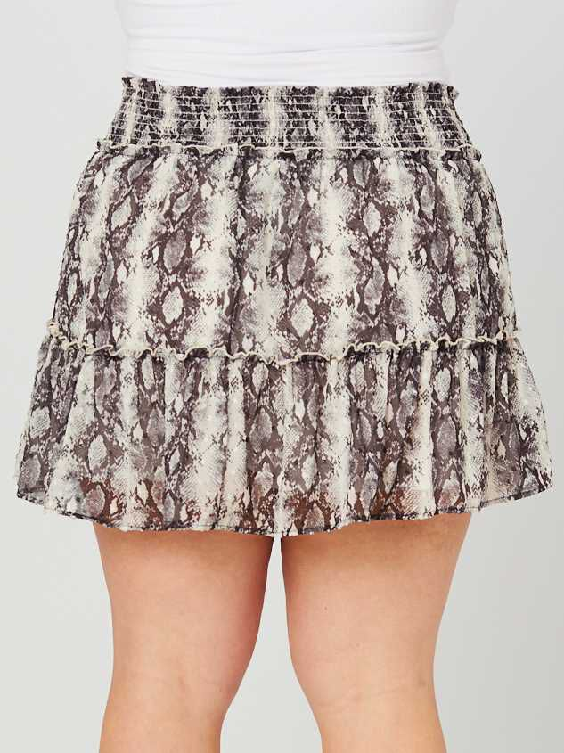 Snakeskin Ruffle Skirt Detail 4 - A'Beautiful Soul