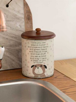 I Love You Like Peanut Butter Dog Treat Jar - A'Beautiful Soul