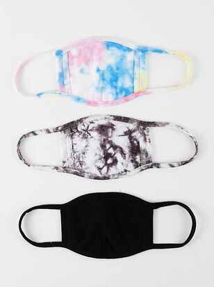 Tie Dye Face Mask Set - 3 Pack - A'Beautiful Soul