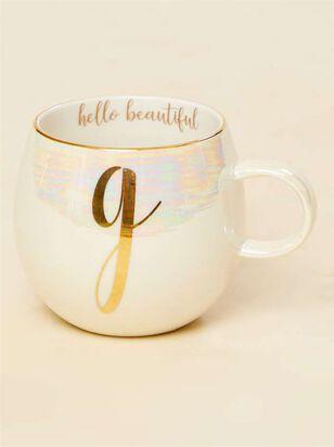 Hello Beautiful Iridescent Monogram Mug - G - A'Beautiful Soul
