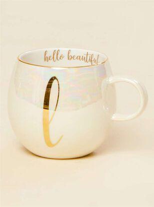 Hello Beautiful Iridescent Monogram Mug - L - A'Beautiful Soul