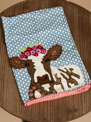 Flower Cow Hand Towel - A'Beautiful Soul