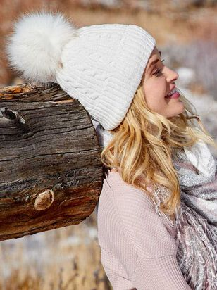 Chenille Pom Beanie - A'Beautiful Soul