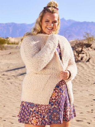 Eyelash Cardigan Sweater - A'Beautiful Soul