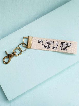 Faith Bigger Then Fear Keychain - A'Beautiful Soul