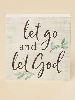 Let Go and Let God Block Sign - A'Beautiful Soul