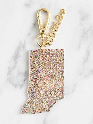 Home Glitter Keychain - Indiana - A'Beautiful Soul