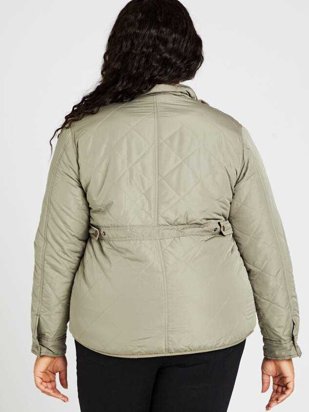 Alpine Quilted Puffer Jacket Detail 4 - A'Beautiful Soul