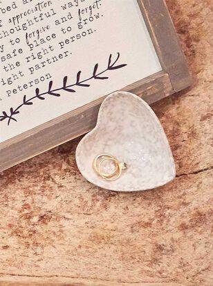 Stoneware Heart Trinket Dish - A'Beautiful Soul
