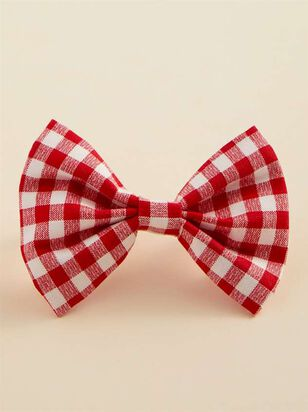 Bear & Ollie's Red Gingham Dog Collar Bow Tie - A'Beautiful Soul