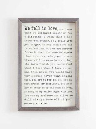 We Fell in Love Wall Art - A'Beautiful Soul