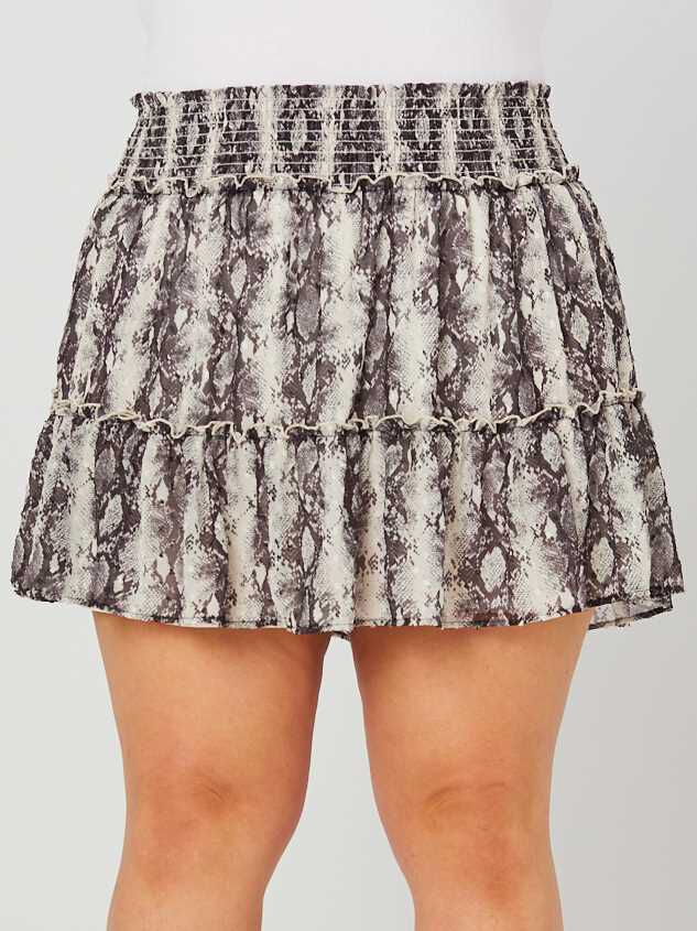 Snakeskin Ruffle Skirt Detail 2 - A'Beautiful Soul