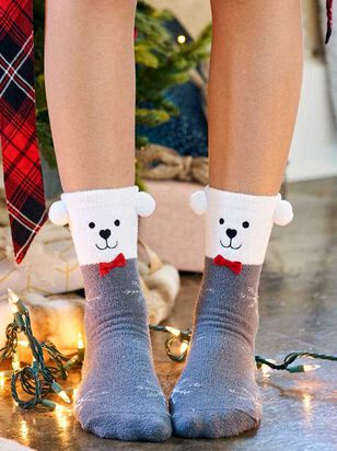 Polar Bear Critter Socks - A'Beautiful Soul