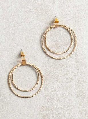 Double Golden Hoop Earrings - A'Beautiful Soul