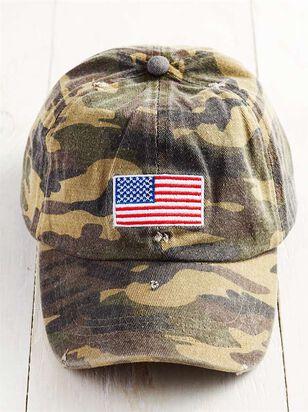 Distressed Camo Patriotic Hat - A'Beautiful Soul