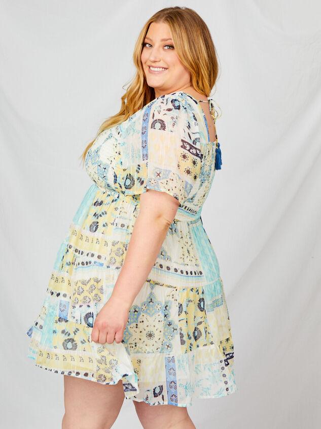 Tabitha Patchwork Dress Detail 2 - A'Beautiful Soul