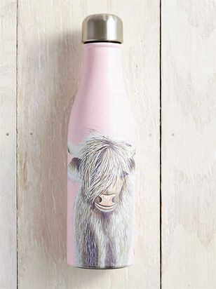 Pretty Pink Bison Water Bottle - A'Beautiful Soul