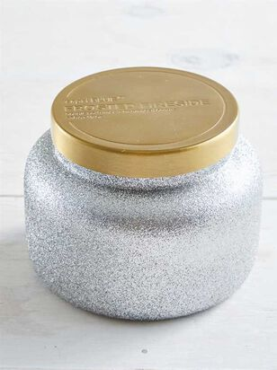 Frosted Fireside Glitter Candle - A'Beautiful Soul