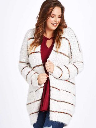 Lovely Lash Spice Striped Cardigan Sweater - A'Beautiful Soul