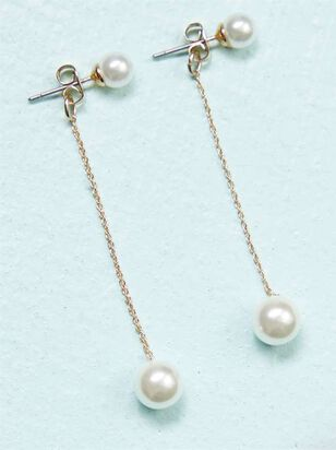 Pearl Drop Earrings - A'Beautiful Soul