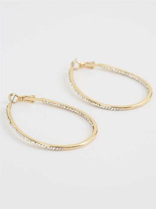 Hoop Stone Earrings - A'Beautiful Soul