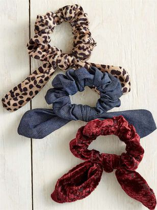Lux Leopard Scrunchies - A'Beautiful Soul