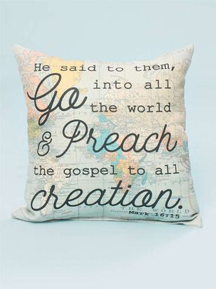 Mark 16:15 Pillow - A'Beautiful Soul