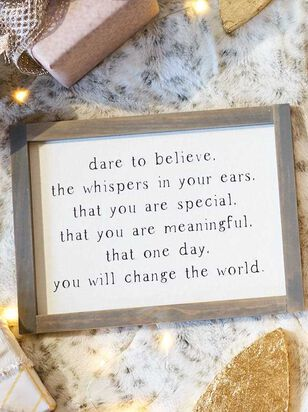 Dare to Believe Wall Art - A'Beautiful Soul